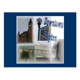 Im Stadtzentrum gelegene Tipton Collage Postkarte