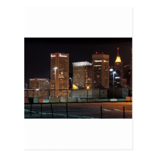 Im Stadtzentrum gelegenes Baltimore nachts Postkarte