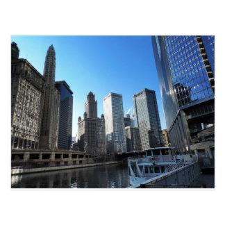 Im Stadtzentrum gelegenes Chicago auf dem Chicago Postkarte