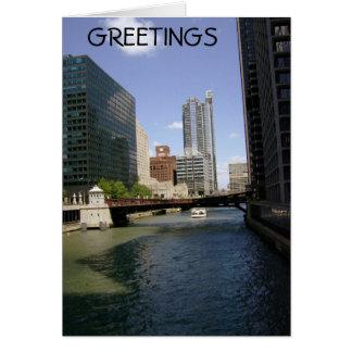 Im Stadtzentrum gelegenes Chicago durch den Kanal Karte