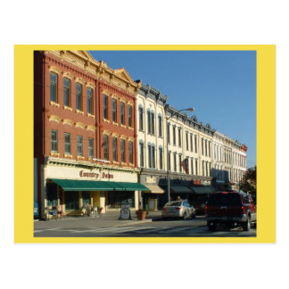 Im Stadtzentrum gelegenes HONESDALE, Pennsylvania Postkarte
