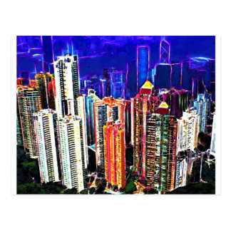 Im Stadtzentrum gelegenes Hong Kong: China: Postkarte