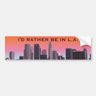 Im Stadtzentrum gelegenes Los Angeles - Autoaufkleber