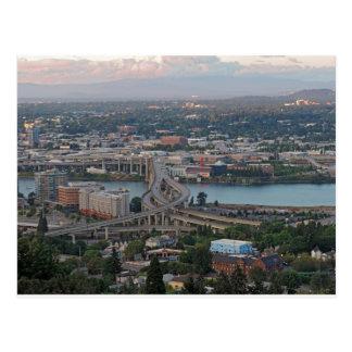 Im Stadtzentrum gelegenes Portland am Postkarte