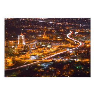 Im Stadtzentrum gelegenes Roanoke, Virginia Fotodruck
