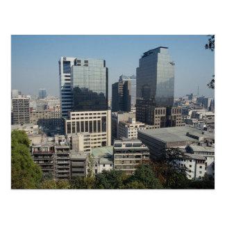 Im Stadtzentrum gelegenes Santiago, Chile Postkarte