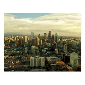 Im Stadtzentrum gelegenes Seattle Postkarte