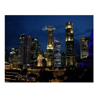Im Stadtzentrum gelegenes Singapur Postkarte