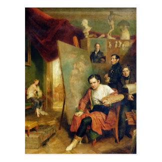 Im Studio des Malers, 1832 Postkarte