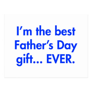 Im-the-best-fathers-day-gift-fut-blue.png Postkarte