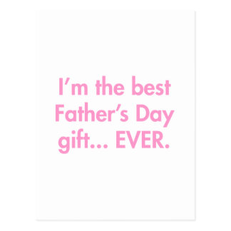 Im-the-best-fathers-day-gift-fut-pink.png Postkarte