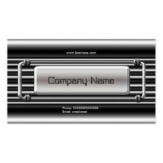 Image Chrome Silver Grey Metal Company Visitenkartenvorlagen