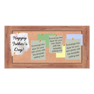 Images de babillards de fête des pères cartes avec photo