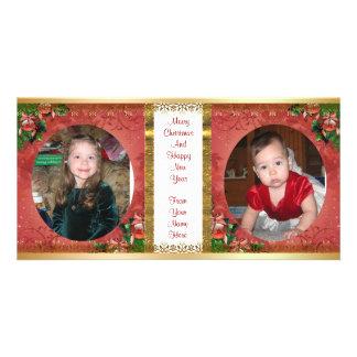 Images du double cadre 2 de carte photo de Noël Photocarte Personnalisée
