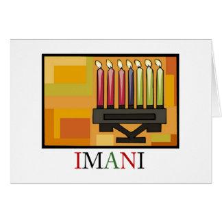 IMANI Kwanzaa Feiertag Notecards Karte