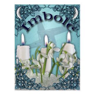 Imbolc Candlemas heidnische Postkarte