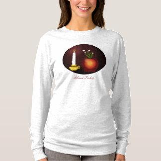 Imbolc Imbolg Kerze und Snowdrops Brid Brighid T-Shirt