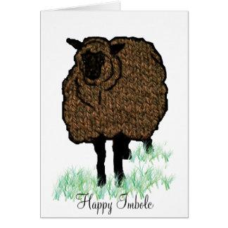 Imbolc strickte Schafe Karte