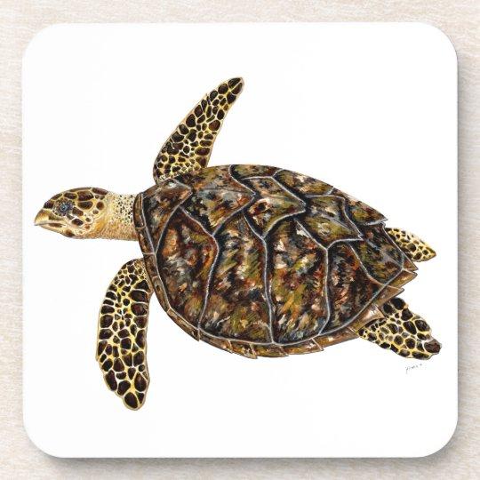 Imbricata Schildkröte Getränkeuntersetzer