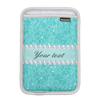 Imitat-aquamarine Sequins und Diamanten iPad Mini Sleeve