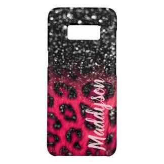 Imitat-beschmutzt rosa schwarzer Glitzer-Leopard Case-Mate Samsung Galaxy S8 Hülle