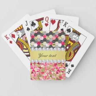 Imitat-Diamant-Folien-Glitter-Patchwork-Dreiecke Spielkarten