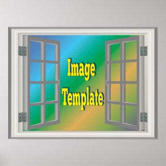 Imitat-Fenster-Weiß schafft Ihre eigene Poster