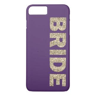 Imitat-Glitter-Braut iPhone 7+ Fall in Lila iPhone 8 Plus/7 Plus Hülle