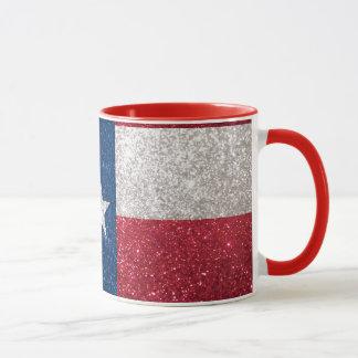 Imitat-Glitter-Texas-Flagge Tasse