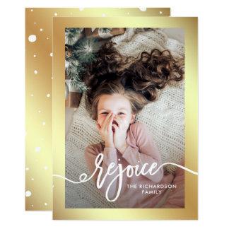 Imitat-Gold freuen sich | Weihnachtsskript mit Karte