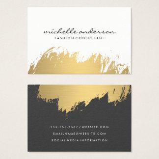 Imitat-Gold gebürstetes weißes Grau Visitenkarte