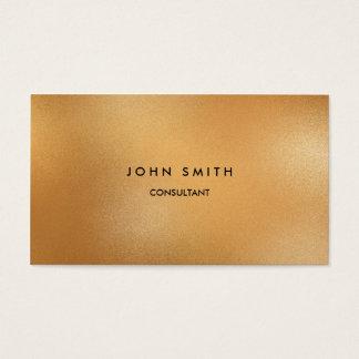 Imitat-Gold klassisch, einfach, doppelseitig Visitenkarte