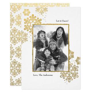 Imitat-Gold ließ es schneien! Foto-Weihnachtskarte Karte