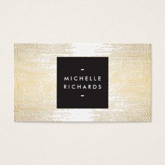 Imitat-Goldconfetti-Punkt-Muster modern Visitenkarte