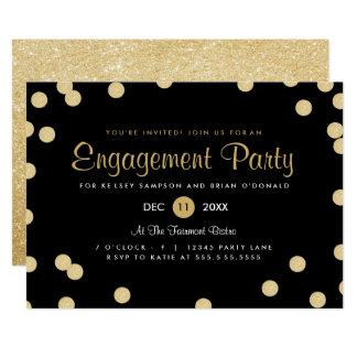 Imitat-Goldconfetti-Verlobungs-Party laden ein 12,7 X 17,8 Cm Einladungskarte
