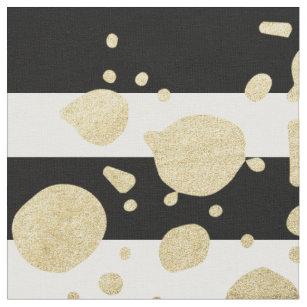 Imitat-Goldfarben-Spritzer auf den schwarzen u. Stoff