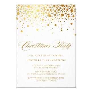 Imitat-Goldfolieconfetti-WeihnachtsParty Einladung