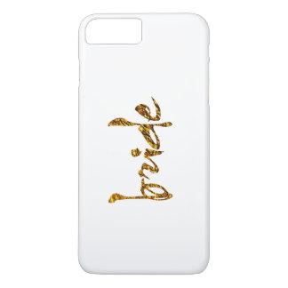 Imitat-Goldfolien-Braut iPhone 8 Plus/7 Plus Hülle