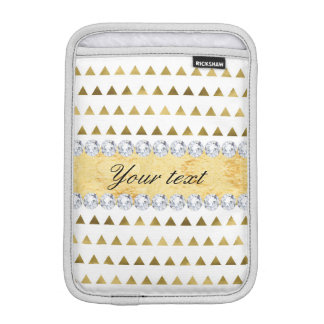 Imitat-Goldfolien-Dreieck-Muster und Diamanten Sleeve Für iPad Mini