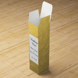 Imitat-Goldfolien-Effekt gedruckt Wein-Geschenkverpackung