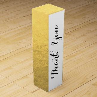 Imitat-Goldfolien-Effekt gedruckt Weinbox