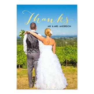 Imitat-Goldfolien-Skript-Foto-Hochzeit danken Karte