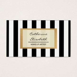 Imitat-GoldGlitter, schwarze Streifen, Visitenkarte