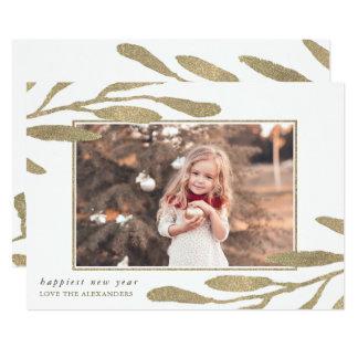Imitat-Goldrahmen-glückliches neues Jahr-Foto 12,7 X 17,8 Cm Einladungskarte