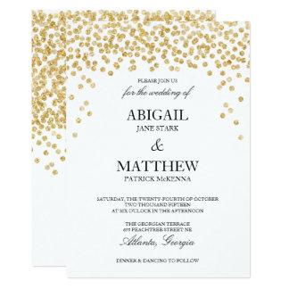 Imitat-Goldscheinconfetti-Hochzeits-Einladung 12,7 X 17,8 Cm Einladungskarte