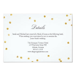 Imitat-Goldscheinconfetti-Hochzeits-Einzelkarte 8,9 X 12,7 Cm Einladungskarte