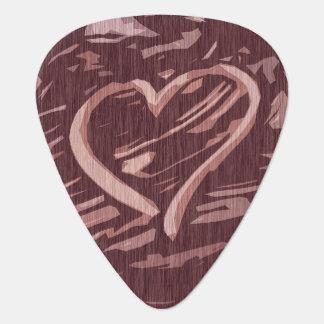 Imitat-Kirschhölzernes Fleck-Grafik-Herz Gitarren-Pick