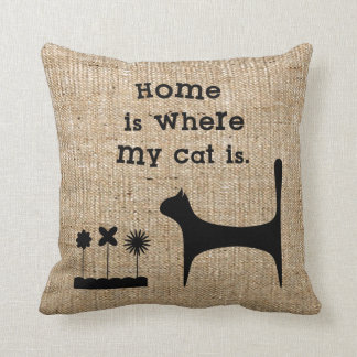 Imitat-Leinwandthrow-Kissen für Katzen-Liebhaber Kissen