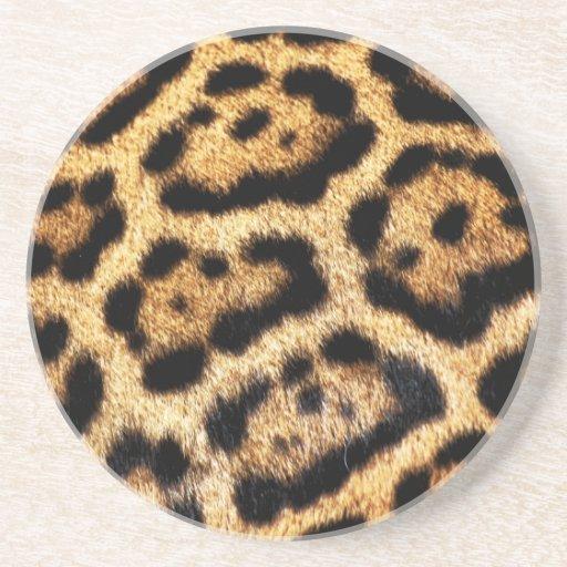 Imitat-Leopard-Pelz-Untersetzer