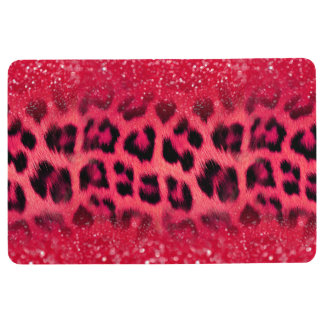 Imitat-rosa Glitzer-Leopard-Stellen für jugendlich Bodenmatte